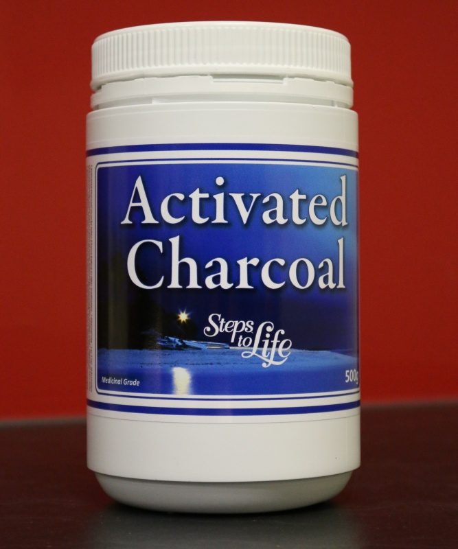 Activated charcoal powder 500g steps to life australia