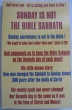 Sunday is Not the Bible Sabbath