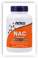 NAC 1000 mg (120 Tablets) Now Foods