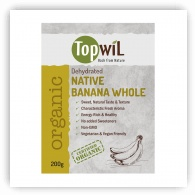 TopwiL Organic Dehydrated Native Bananas Whole - 200g