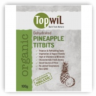 TopwiL Organic Dehydrated Pineapple Titbits - 100g