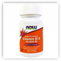 Vitamin D-3 High Potency, 10,000 IU, 120 Softgels